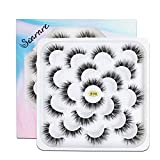 Soararc False Eyelashes Dramatic 5D Faux Natural Mink Eyelashes for Women, Girls Soft Volume Fluffy Handmade Reusable Long Fake Eyelashes 10 Pairs, R 06