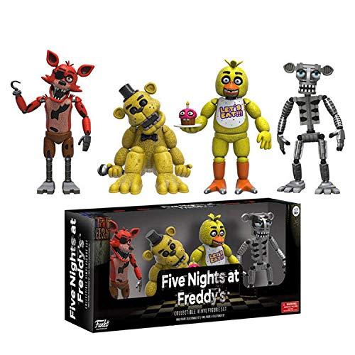 CHOCHO Funko Pop Five Nights at Freddy'S Midnight Harem, un Conjunto de 4 Conjuntos de Modelos de muñecas-Cuatro Modelos (Gold Freddy)