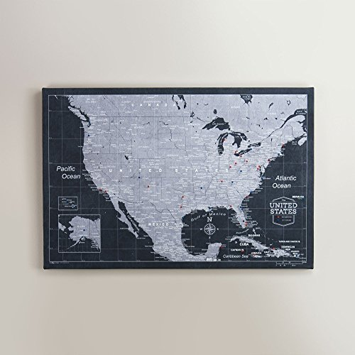 USA Travel Map Pin Board - Modern Slate - Made in Ohio, USA!