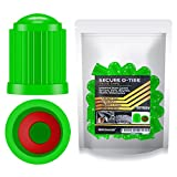 Performore 30 pcs Tire Valve Caps Heavy-Duty Stem Covers with O-Rubber Rings, Universal Car Wheel Tire Valve Stem Caps Dust Cover for Cars, SUVs, Bikes, Bicycles, and Motorcycles (Green)