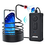 ANCEL Inspection Camera, Wide Angle Wireless Endoscope, IP67 Waterproof and 2MP HD, 11.5ft Snake for Car Engine Inspection, DIY HVAC Plumbing, Wiring, etc