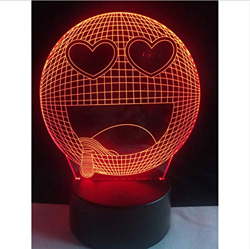 Sweet Heart Drool Profitez Emoji 3D Usb Led Lampe 7 Couleurs Changement Creative Home Decor Enfants Jour Gadget Kid Jouet