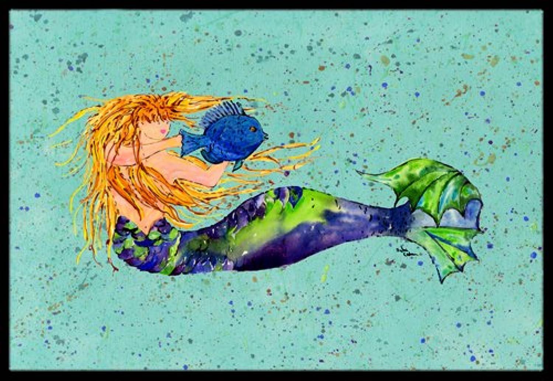 Caroline's Treasures 8336-JMAT Mermaid Indoor or Outdoor Doormat, 24  x 36 , Multicolor
