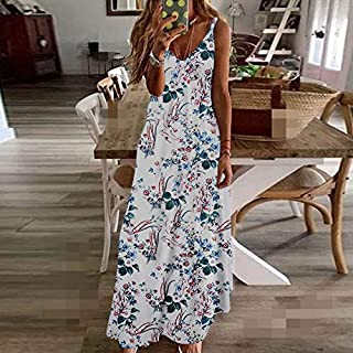Women'S V-Shaped Skirt Printed V-Neck Floral Suspender Skirt Women'S Sleeveless Plus Size Women'S 4Xl 5Xl Summer
