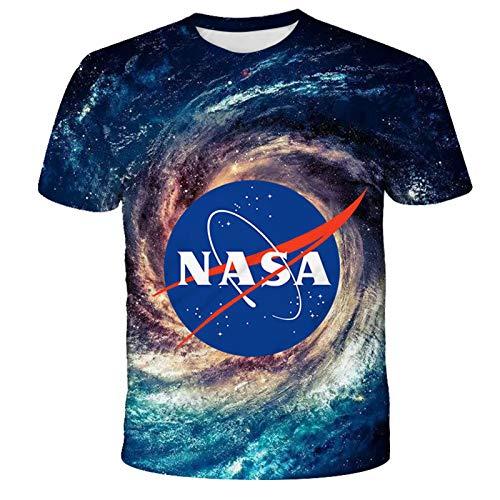 ZHUOYU Camiseta de la serie Universum con diseño de cielo estrellado en 3D, adecuada para adultos y niños, suave y transpirable, de manga corta informal, XXS-6XL (G,XXS)