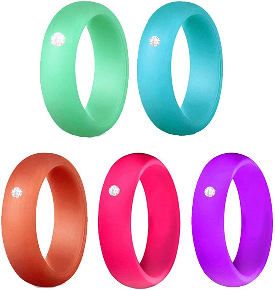 Opening large release sale Kebaner 4 Pack 5 7 Silicone W 10 Max 64% OFF Wide 5.7MM