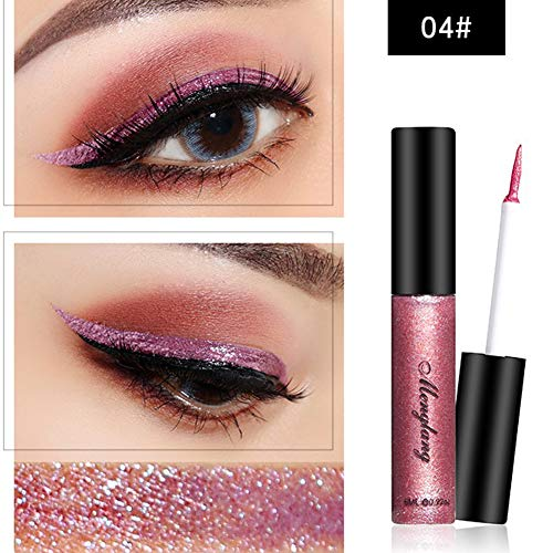 Absir Glitter Liquid Eyeliner Pen Metallic Shine Eye Shadow & Liner Combination Pencil Eyes Makeup 4#