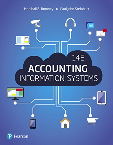 Compare Textbook Prices for Accounting Information Systems 14 Edition ISBN 9780134474021 by Romney, Marshall,Steinbart, Paul