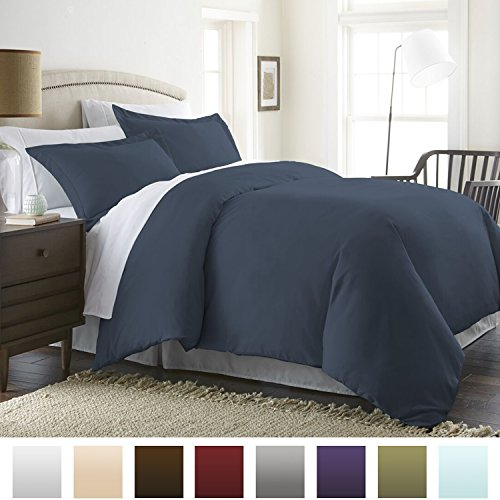 Beckham Hotel Collection Luxury Soft Brushed 1800 Series Microfiber Duvet Cover Set with Zipper ...
