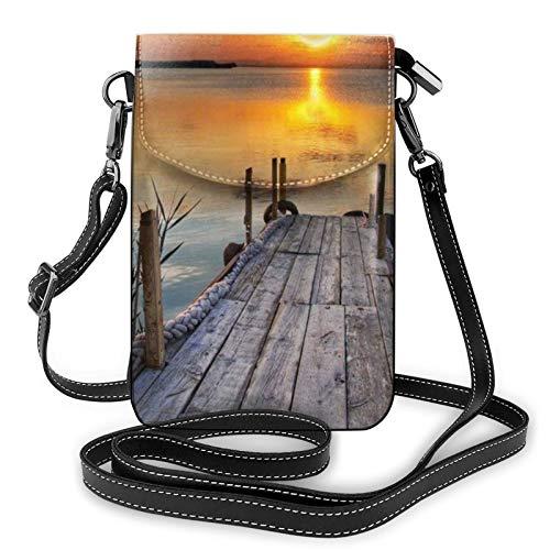 Bolso ligero de piel sintética para teléfono celular, ganso salvaje por The Bridge Small Crossbody Bags Bolso de hombro para mujer, color Negro, talla Talla única