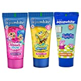 aquawhite® Toothpaste for Kids (2-14 Years), Pack of 3, Fluoride Free, (Strawberry & Chillgum Flavors), (80 GM) Each (Combo 4)