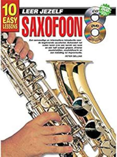 10 eenvoudige lessen Leer Jezelf Saxofoon (Boek/CD/DVD) - Bladmuziek, CD, DVD (Regio 0)