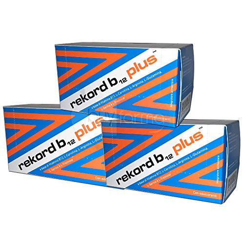 3X REKORD B12 PLUS - Integratore Alimentare Energetico - 30 FLACONCINI