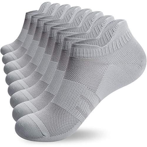 Lapulas Sneaker Socken Herren Damen 8 Paar Laufsocken Dünne Sportsocken Baumwollsocken Bequem Antirutsch 35-50, 16er Pack S18 Sommer Atmungsaktiv Kurze Socken für Fitness im Freien