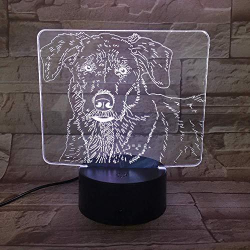 Kinderen studentafel kerstgeschenk 3D LED hond schattige kinderen 's nachts kinderen huisdiertafel of kerstcadeau voor kinderen kinderen Ba