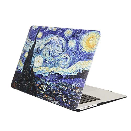 MonsDirect MacBook Pro 13 Inch Case 2016-2019 Release, Hard Plastic Rubberized Protective Case Anti-Scratch Case for Pro 13 Inch A2159 A1989 A1706 A1708 with/Without Touch Bar, Starry Night