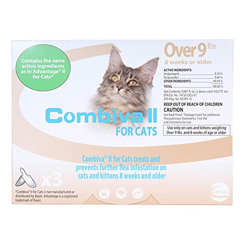 CEVA Animal Health D93120B Combiva II para Gatos Grandes + 10 Libras (Paquete de 3)
