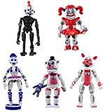 Set of 5 pcs FNAF Action Figures, Inspired by Five Nights at Freddy's Action Figures Toys Dolls Gifts Cake Toppers, Toys Dolls, Holiday Toy Gifts for Kids, 6 inches (FNAF 1 Action Figures)