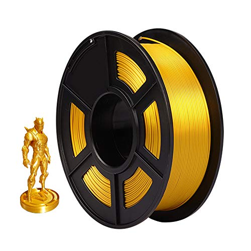 AnKun Pla+ Silk Filament 1.75mm, Light Gold Silky PLA Plus 3D Printing Material for 3D printer and 3D Pen, Dimensional Accuracy +/- 0.02mm, 1kg 1 Spool