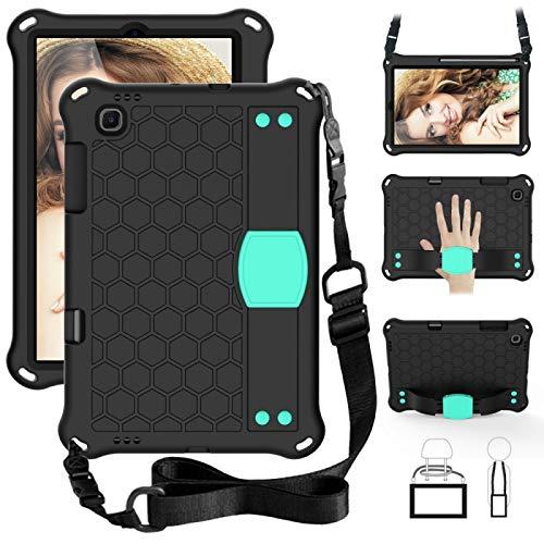 Dmtrab para Para Sansung Galaxy Tab S6 Lite P610 Case, Diseño de Abeja EVA + PC Material de la PC Cute Cubierta Protectora Plana Anti Caída con Correa (Púrpura + Negro) Casos de la Tableta Galaxy