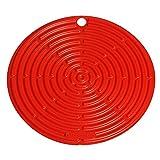 Le Creuset, Dessous de Plat en Silicone avec Œillet de Suspension, Rond, Diamètre : 20 cm, Silicone, Volcanique