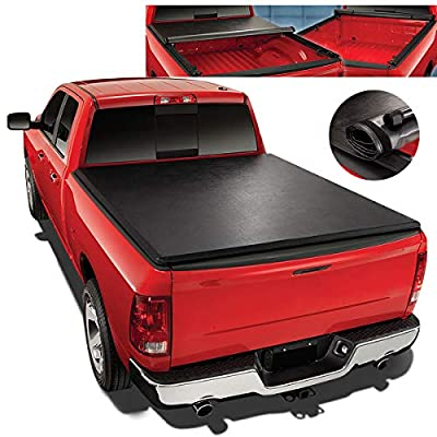 Replacement for 99-07 Chevy Silverado/GMC Sierra 6.5Ft Short Bed Top Soft Vinyl Roll-Up Tonneau Cover