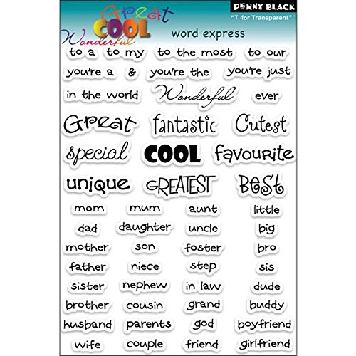 Penny Black Rubber CLEAR STAMPS 12,7 cm x 19,1 cm sheet-words Express