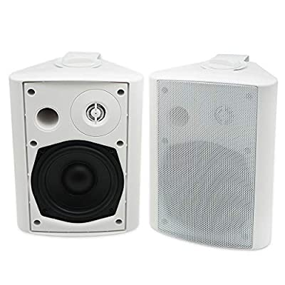 """Herdio 5.25 """" 200 Watts indoor-Outdoor Bluetooth Patio Speakers with Powerful Bass All Weather Wall Mount System from"""