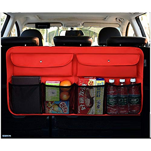 Auto Rücksitz-Organizer Auto Aufbewahrungstasche Kofferraum Ledersessel Gesäßtasche Rücksitzbox, rot