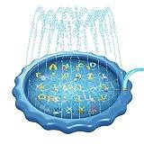 Seii Alfombrilla de aspersión y alfombrilla de juego 68 pulgadas inflable para fiestas al aire libre alberca para niños para jugar juntos juguetes acuáticos para el verano jardín al aire efficiently