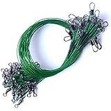 XW-Fishing Line, 10 unids/Pack Anti Bite Steel Leader Wire Wire Leader Fishing Accesorio de Pesca Lead Core Leash Línea de Pesca (Color : Green, Line Number : 1.5)