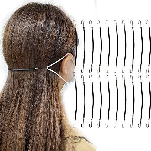 20 PCS Hair Styling Ponytail Hooks Bagvhandbagro Black Hair Clips Elastics Ties Elastic Bands product image