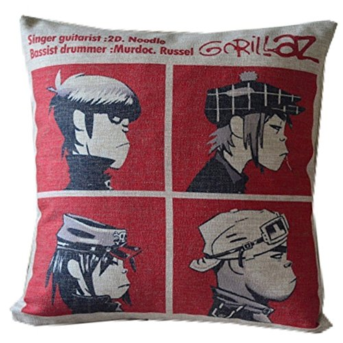 Gary S.Shop Gorillaz Band Hip-pop Home Decor Pillow Case 18 x 18 Inch