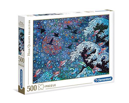 Clementoni 35074 Puzzle 500 Teile-Tanze mit den Sternen, Multicolor