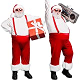 Sumind 2 Pieces Christmas Santa Claus Inflatable Belly Empty Fake Pregnancy Belly Cosplay Belly Fake Padded Belly for Christmas Cosplay Party
