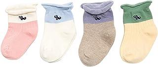 Black Temptation, 4 pares unisex del bebé Calcetines, 1-2 años de edad del bebé del algodón Calcetines #02