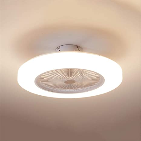 Baycheer Acrylic Doughnut Ceiling Fan Light Simple Living Room Led Semi Flush Mounted Lamp Fixture For For Living Room Kitchen Bedroom Dining Room 3 Light Color Changeable White Amazon Com