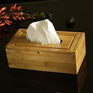 Bamboo Tissue Box Flip Cover Storage Box Toilet Paper Box Creative Seat Type Tissue Canister Eco-Friendly Wood Table Decor...