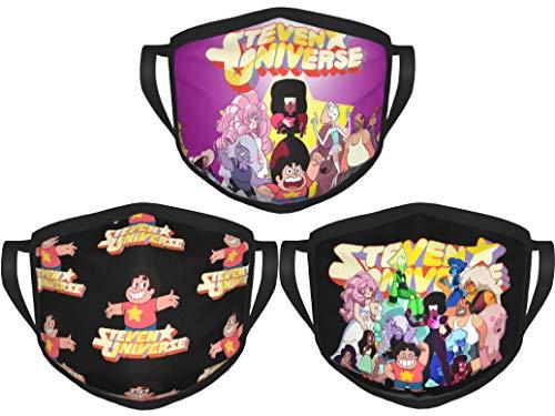 Steven Universe Future Tv Animation Face Mouth Cloth Washable Outdoor Face Cover Balaclava 3pcs