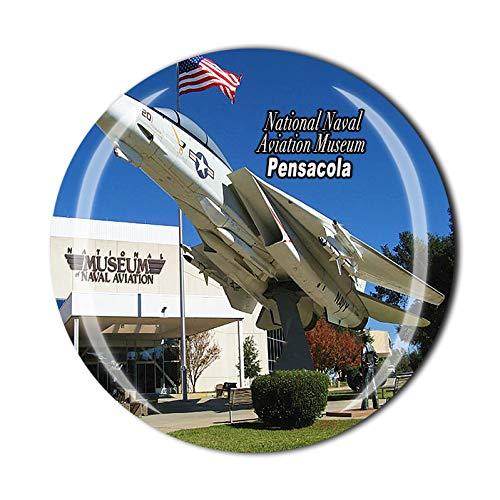 Imán de nevera 3D para el Museo Nacional de Aviación Naval de Pensacola de Estados Unidos, recuerdo de cristal, colección de regalo, decoración para el hogar y la cocina