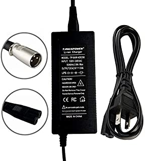 36V Charger 42V 2A Electric Scooter Battery Charge with 3-Pin XLR Connector Male For Crazy Cart XL Electric Mini Dirt 650 Power Wheelchair