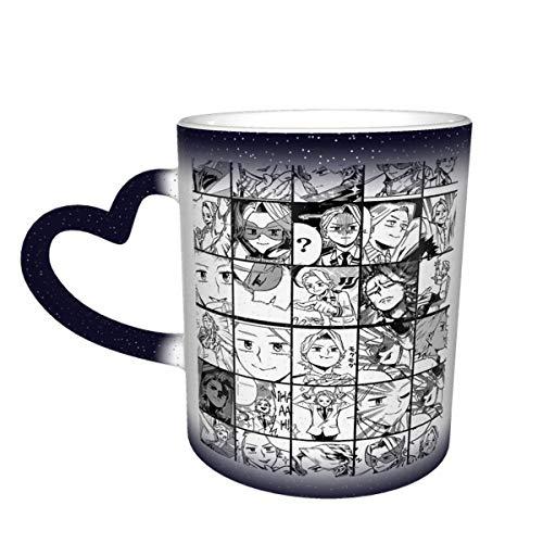 Taza de cerámica Bnha Aoyama Yugo Taza de Color Sensible al Calor Que Cambia de Color Taza Que Cambia en el Cielo Magia Arte Divertido Tazas de café Taza de cerámica Regalos Personalizados para los a