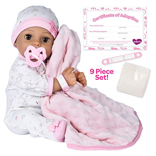 Adora Adoption Baby 'Precious' - 16 inch newborn doll, with accessories and Certificate of Adoption