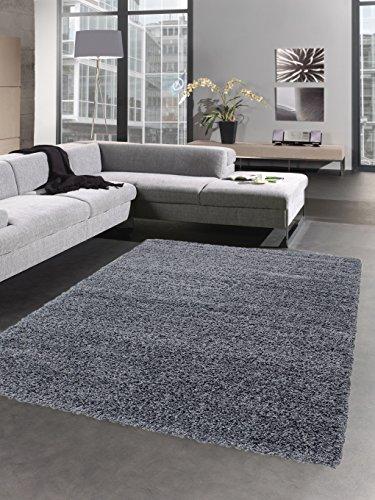 CARPETIA Shaggy Teppich Hochflor Langflor Bettvorleger Wohnzimmer Teppich Läufer grau Größe 67 cm R&