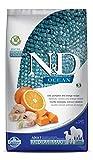 Farmina N&D Ocean Cod, calabaza y naranja medio y Maxi alimento seco para perros 5.5 libras