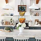 Malmo Hängekorb 3 stöckiger Pflanzen-,Gemüse-,Obstkorb, Basket Verschiedene Ausführungen zur Aufbewahrung Farbe: schwarz - 8