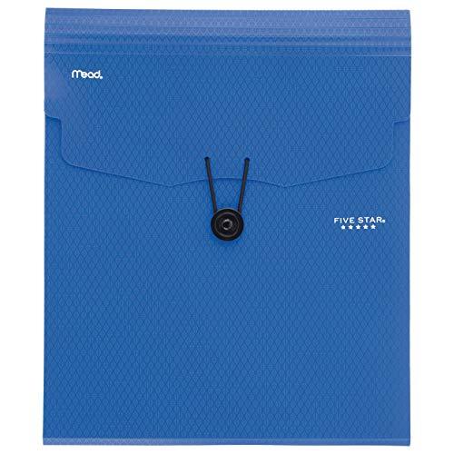 Five Star Expanding File Folder, 5-Pocket Vertical Expandable File Folder, Blue (72699)