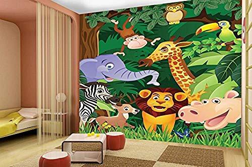 Relovsk fotobehang dieren jungle behang fotobehang slaapkamer kinderen kinderkamer kinderkamer decoratie 150cmx105cm