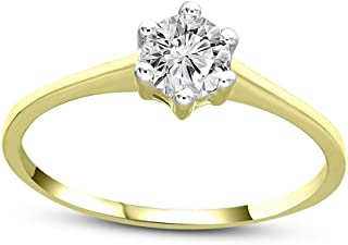 Mothers Day Gifts Natural Diamond Ring IGI Certified 1/3 Ct Ct Solitaire Engagement Diamond Ring For Women 14K White Gold ...