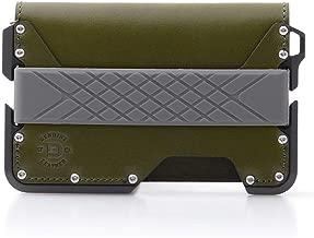 Dango D01 Dapper Bifold Wallet – Made in USA – Genuine Leather, CNC Alum,..